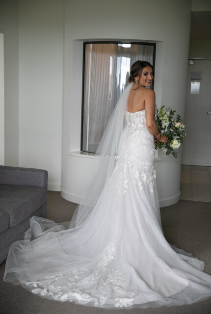 Sarah Joseph Couture – Size 10 Fit and Flare dress | Second hand wedding dresses Narre Warren - Size 10