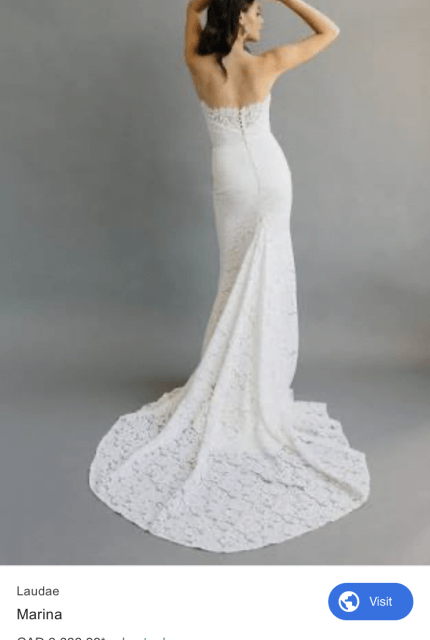 Bespoke / Other – Size 12 Strapless dress | Second hand wedding dresses Sale - 6