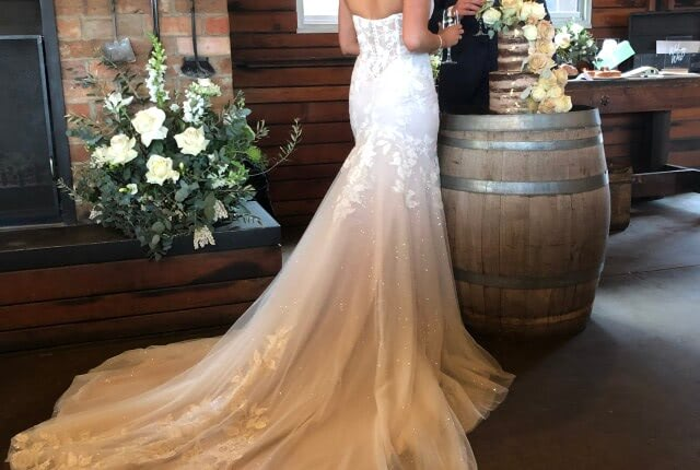 Sarah Joseph Couture – Size 10 Fit and Flare dress | Second hand wedding dresses Narre Warren - 5