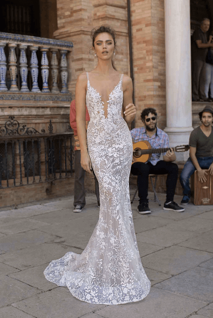 Berta – Size 10 Fit and Flare dress | Second hand wedding dresses waterloo - Size 10