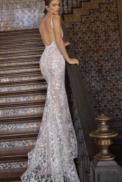 Berta – Size 10 Fit and Flare dress | Second hand wedding dresses waterloo - 2