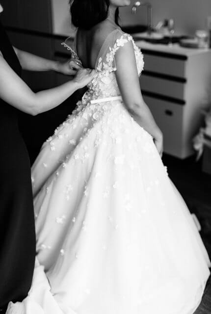 Paolo Sebastian – Size 6 A-Line dress | Second hand wedding dresses Hawthorn East - 3