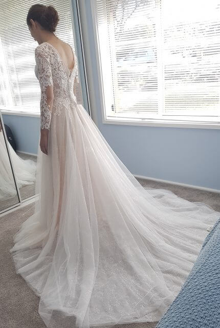 Christina Rossi – Size 6 A-Line dress | Second hand wedding dresses Winston hills - 7