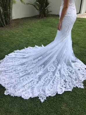 Martina Liana – Size 10 Fit and Flare dress | Second hand wedding dresses Cairns - 2