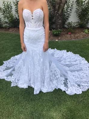 Martina Liana – Size 10 Fit and Flare dress | Second hand wedding dresses Cairns - 3