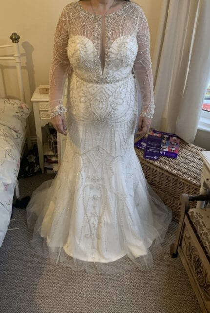 Justin Alexander – Size 14 Fit and Flare dress | Second hand wedding dresses Melbourne - Size 14