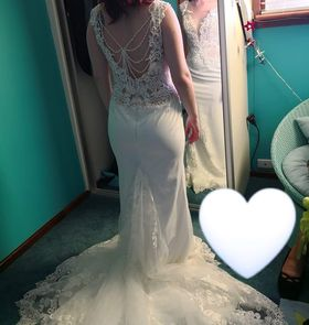 Tuscany Bridal – Size 10 Fishtail dress | Second hand wedding dresses Perth - 4