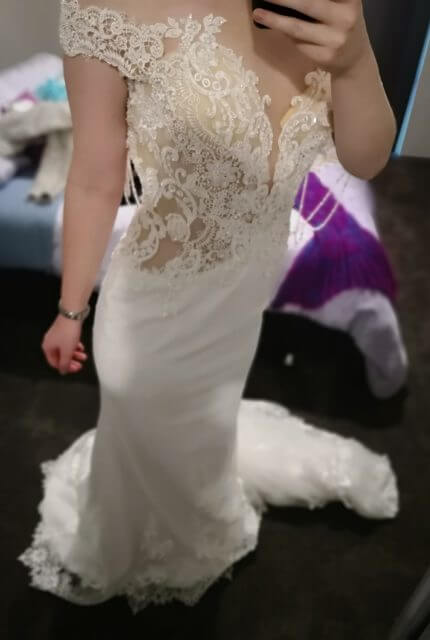 Tuscany Bridal – Size 10 Fishtail dress | Second hand wedding dresses Perth - 3