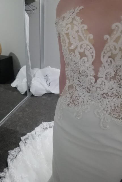 Tuscany Bridal – Size 10 Fishtail dress | Second hand wedding dresses Perth - Size 10