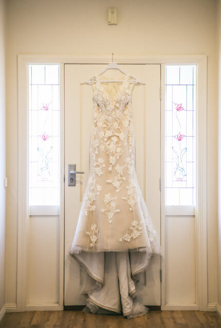 Demetrios – Size 8 Fit and Flare dress | Second hand wedding dresses East Tamworth - 6
