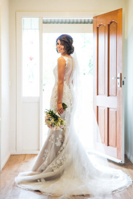 Demetrios – Size 8 Fit and Flare dress | Second hand wedding dresses East Tamworth - Size 8