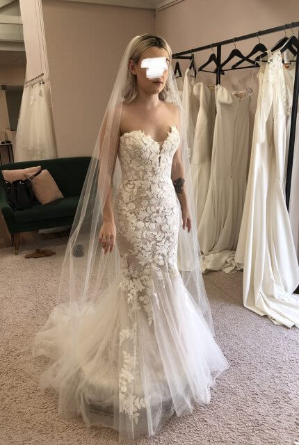 Enzoani – Size 6 Fit and Flare dress | Second hand wedding dresses Park Ridge - 2