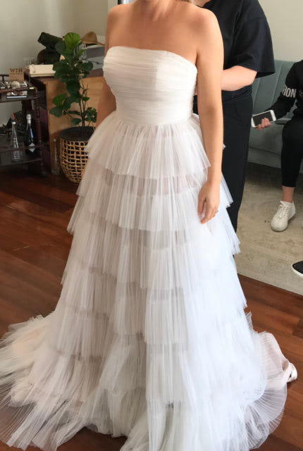 One Day Bridal – Size 12 A-Line dress | Second hand wedding dresses Willagee - Size 12