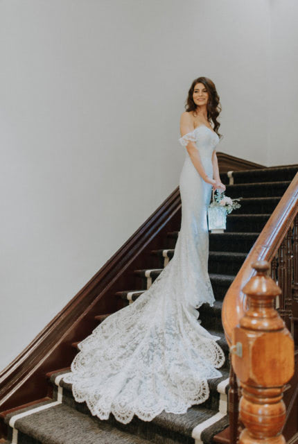 Bridal by Aubrey Rose – Size 8 Fit and Flare dress | Second hand wedding dresses Perth - Size 8