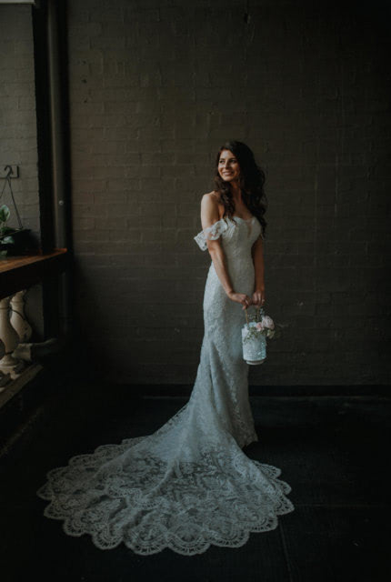 Bridal by Aubrey Rose – Size 8 Fit and Flare dress | Second hand wedding dresses Perth - 3