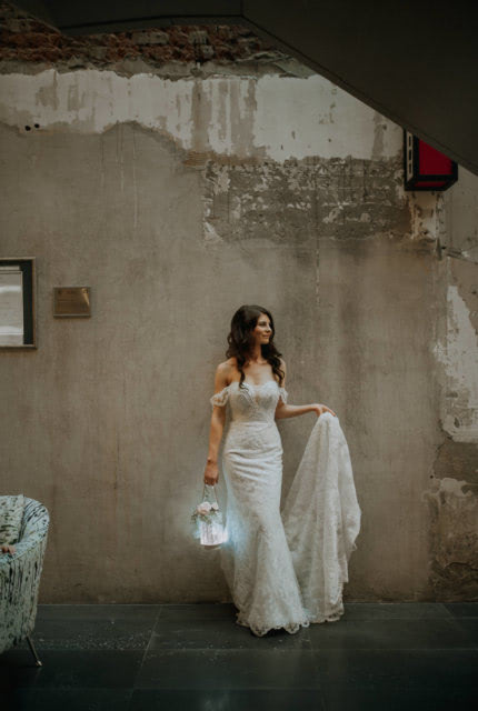 Bridal by Aubrey Rose – Size 8 Fit and Flare dress | Second hand wedding dresses Perth - 4