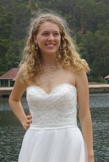 Bridal Chic – Size 12 A-Line dress   Second hand wedding dresses Westmead - 3