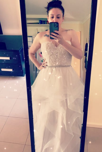 Bespoke / Other – Size 14 Strapless dress | Second hand wedding dresses Blakeview - 4