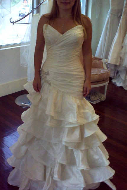 Halo Bridal – Size 8 Fit and Flare dress | Second hand wedding dresses Waverley - 4