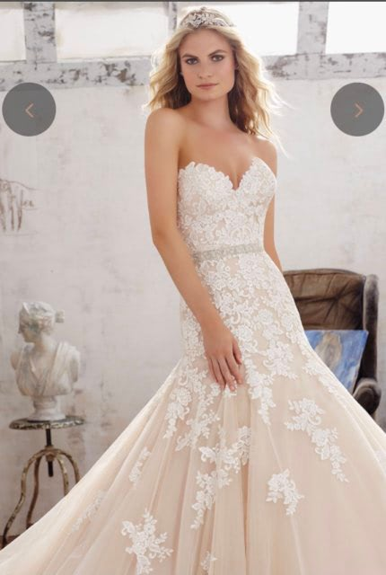 Mori Lee – Size 10 Fit and Flare dress   Second hand wedding dresses Airport West - 5