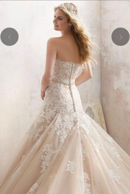 Mori Lee – Size 10 Fit and Flare dress   Second hand wedding dresses Airport West - 3