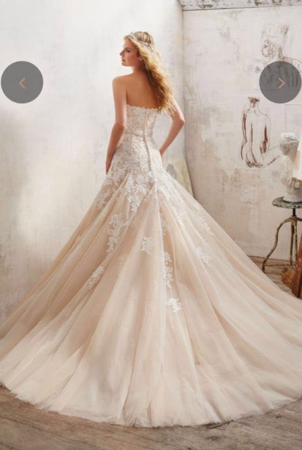 Mori Lee – Size 10 Fit and Flare dress   Second hand wedding dresses Airport West - 4
