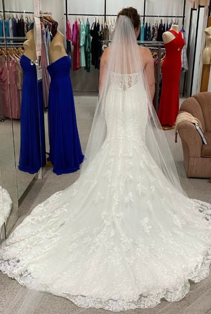 Essense of Australia – Size 10 Fit and Flare dress | Second hand wedding dresses Curlewis - Size 10