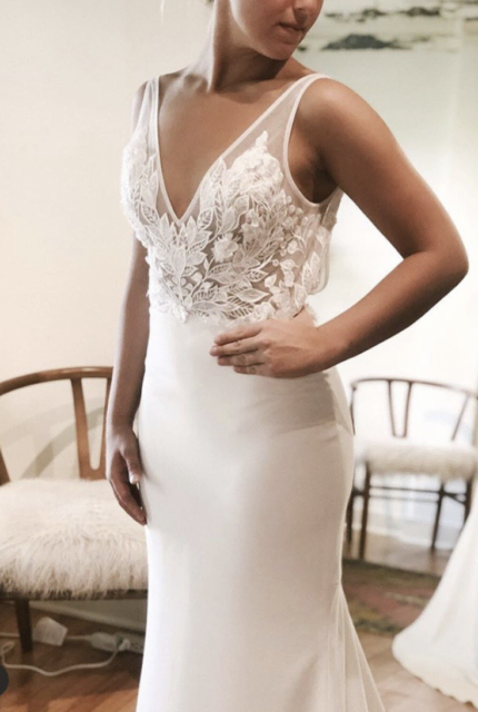 Made With Love – Size 8 A-Line dress | Second hand wedding dresses Caddens - 2