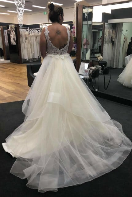 Cizzy Bridal – Size 14 Ball Gown dress   Second hand wedding dresses Noble park north - 3