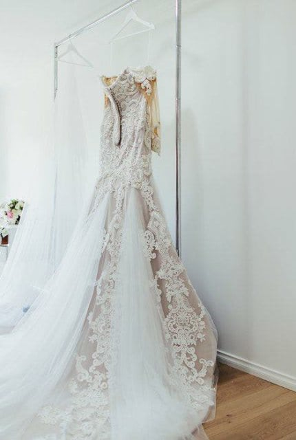 Alin Le' Kal – Size 16 Fit and Flare dress | Second hand wedding dresses Melbourne - Size 16