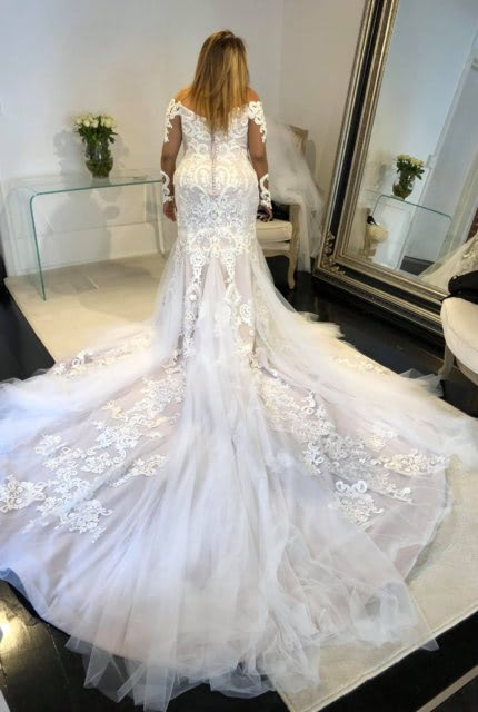 Alin Le' Kal – Size 16 Fit and Flare dress | Second hand wedding dresses Melbourne - 3