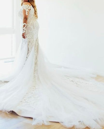 Alin Le' Kal – Size 16 Fit and Flare dress | Second hand wedding dresses Melbourne - 5