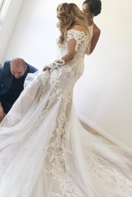 Alin Le' Kal – Size 16 Fit and Flare dress | Second hand wedding dresses Melbourne - 6