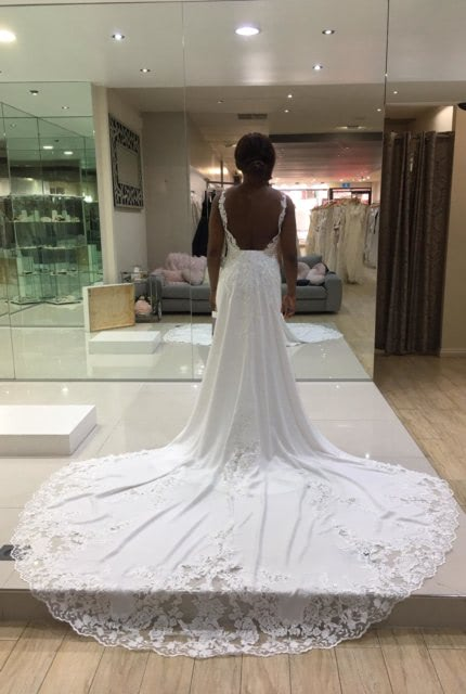 St. Patrick – Size 8 Fit and Flare dress | Second hand wedding dresses Point Cook - 4