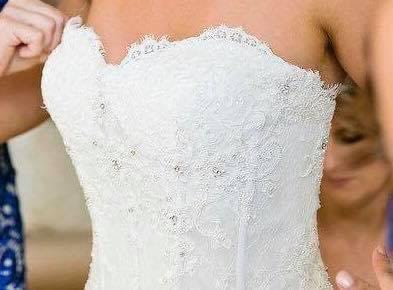 Pronovias – Size 8 Strapless dress | Second hand wedding dresses Paddington - 2
