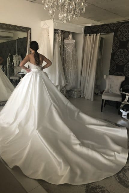 Norma Bridal Couture – Size 8 Strapless dress | Second hand wedding dresses Ryde - 3