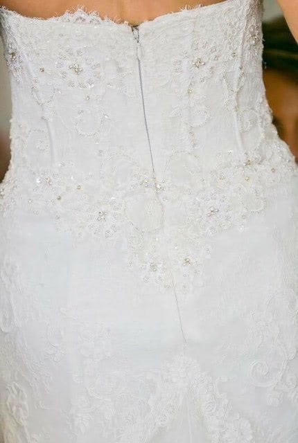 Pronovias – Size 8 Strapless dress | Second hand wedding dresses Paddington - 3