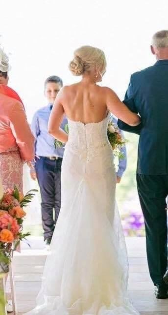 Pronovias – Size 8 Strapless dress | Second hand wedding dresses Paddington - 5