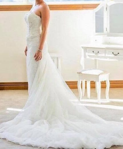 Pronovias – Size 8 Strapless dress | Second hand wedding dresses Paddington - 7
