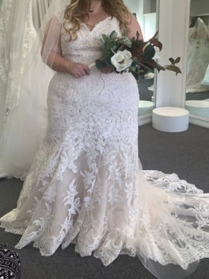Fit and Flare dress by Allure Bridals
