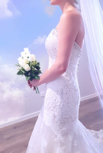 Allure Bridals – Size 10 Fit and Flare dress | Second hand wedding dresses Greenbank - 2