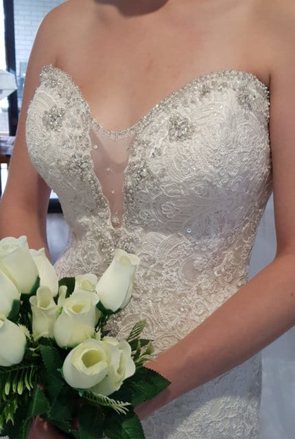 Allure Bridals – Size 10 Fit and Flare dress | Second hand wedding dresses Greenbank - Size 10