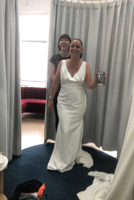 Theia Couture – Size 16 Fit and Flare dress | Second hand wedding dresses Glenalta - 4