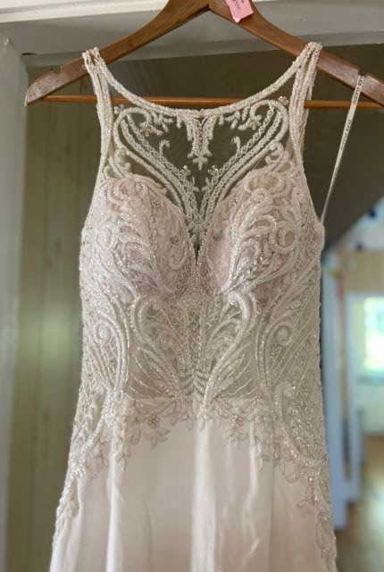 Martina Liana – Size 8 Fit and Flare dress | Second hand wedding dresses Yass - Size 8