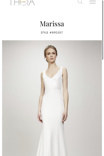Theia Couture – Size 16 Fit and Flare dress | Second hand wedding dresses Glenalta - 3
