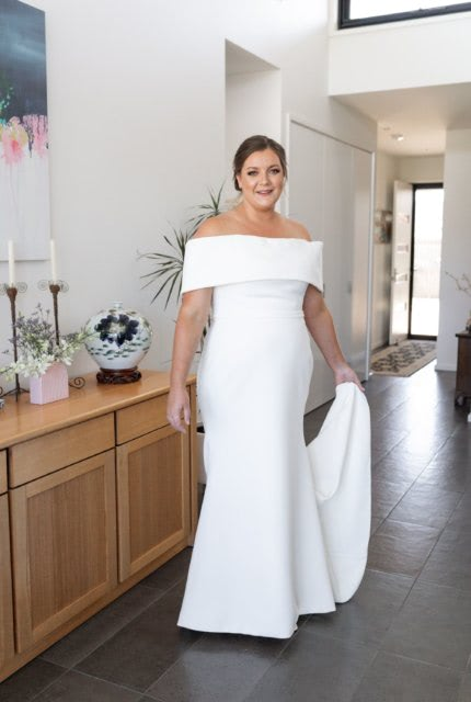 Caleche – Size 20 Trumpet dress | Second hand wedding dresses Ringwood North - Size 20