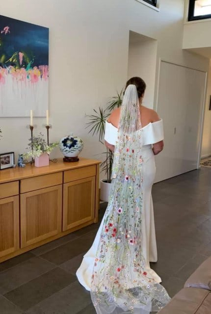 Caleche – Size 20 Trumpet dress | Second hand wedding dresses Ringwood North - 6