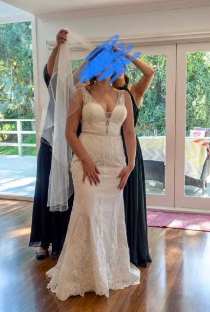 Cizzy Bridal – Size 12 A-Line dress | Second hand wedding dresses Narre Warren - 5