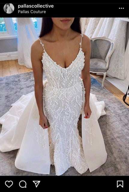 Pallas Couture – Size 8 Fishtail dress | Second hand wedding dresses Wollongong - Size 8