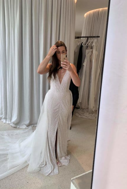Mariana Hardwick – Size 10 Fit and Flare dress | Second hand wedding dresses Airport West - 5